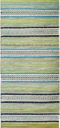Saltö - vackert mönstrad trasmatta | Nylanders Mattor Allotment Design, Rag Rugs, Woven Rug, Scandinavian Style, Handmade Rugs, Carpets, Pattern Design, Quilts, Knitting