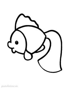 Golden Fish Coloring Page Fish Coloring Page, Coloring Pages To Print, Colouring Pages, Coloring Pages For Kids, Quilt Patterns Free, Applique Patterns, Golden Fish, Free Clipart Images, Cute Fish