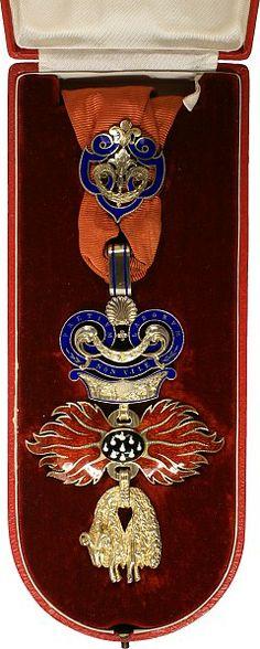 Austria, Golden Fleece Order, neck badge, c.19th century, L. 86 mm, with box. 02