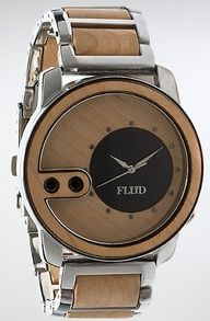Flud Watches The Exchange Watch in Birch Wood