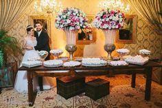Mesa de Doces - Decoração de Casamento Rústico Chique - www.sisterlylove.com.br