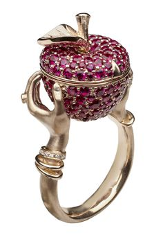 ✯ Stephen Webster Poison Apple Ruby Rose Gold Ring ✯