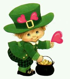 Giacomino Saint Patricks Day Art, St Patricks Day Cards, Happy St Patricks Day, St Patricks Day Pictures, Decoupage, Irish Leprechaun, Erin Go Bragh, Images Vintage, Irish Boys