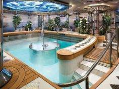 TOP 25 CRUISE SHIP SPAS  # 13.  EURODAM    Overall Score: 89.9  Treatments: 91.1  Staff: 86.9  Facilities: 91.8    Treatment Rooms: 10  Basic Massage: $119