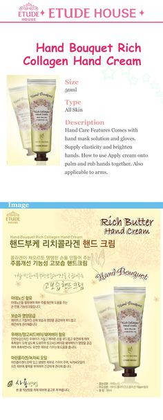 Etude House Korea Jakarta: Etude House Hand Bouquet Rich Collagen Hand Cream ...
