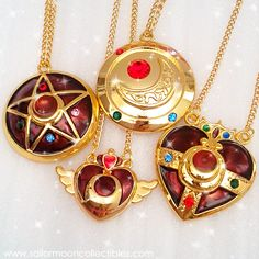 Sailor Moon Necklaces by onsenmochi.deviantart.com on @deviantART