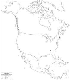 Mapas mudos en blanco y negro para imprimir  Mapas  Pinterest