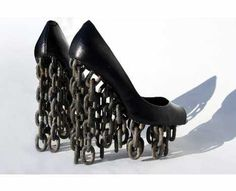 Chain platform shoes OMG! I see a broken ankle in my future!