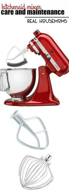 KitchenAid Mixer Care and Maintenance Kitchen Aid Recipes, Kitchen Hacks, Kitchen Tools, Kitchen Gadgets, Kitchen Dining, Kitchen Maid, Cooking Gadgets, Kitchen Appliances, Stand Mixer Recipes