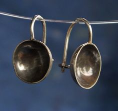 sterling silver half dome earrings by AmandaBrittin on Etsy, $45.00