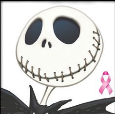 Combined October purpose ~ Halloween and Breast Cancer awareness :-)