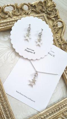 silver star piace&earring