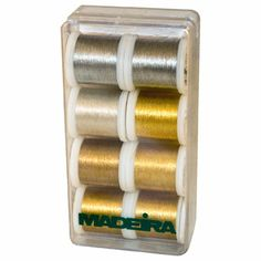 most hard wearing metallic thread in the world! It can be washed at high temperatures (up to 95ºC/210ºF) and is resistant to bleach and chlo...