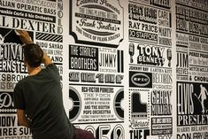 The music timeline created by designer Alex Fowkes in the company's London HQ shows its rich history...