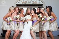 Sparkly bridesmaid dresses how fun! In Love!