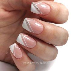 Nail art elegant _ nagelkunst elegant _ nail art élégant _ arte de u. Nail Art Designs, Manicure Nail Designs, Manicure E Pedicure, Disney Manicure, Classy Nail Art, Elegant Nail Art, Elegant Nail Designs, Glitter Nail Art, Nail Art Diy