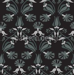 High-quality Vector Patterns from patterndesigns.com - Tulip-And-Carnation, designed by Figen Topbaş Fukara