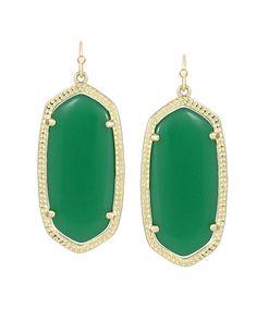 Elle Earrings in Green - Kendra Scott Jewelry