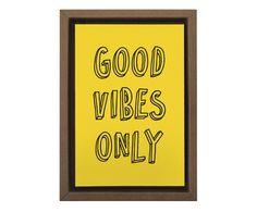 Gravura Digital Good Vibes Only - 25X35cm | Westwing - Casa & Decoração