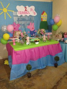 Pig Party, Birthday Cake, Home Decor, Mermaid Parties, Masha And The Bear, Birthday Cakes, Decoration Home, Room Decor, Cake Birthday