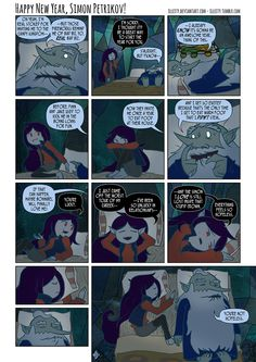 Simon and Marcy comic part 2 of 2  Adventure Time   OH  MY  GLOB     Happy New Year  Simon Petrikov  by illeity deviantart com on  deviantART  Adventure  Time ComicsAdventure
