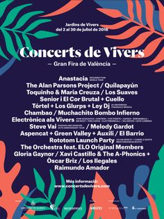 Cartel Conciertos Feria de Julio en los Jardines de Viveros - http://www.valenciablog.com/cartel-conciertos-feria-de-julio-en-los-jardines-de-viveros/