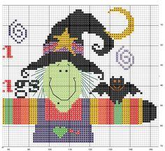 Schema punto croce Pannello Halloween 2