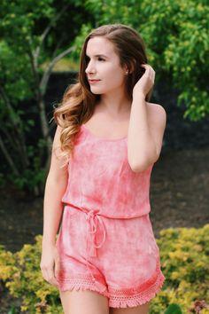 Tie Dye Romper - With Love, Meg Tie Dye, Rompers, My Style, Tops, Dresses, Fashion, Vestidos, Moda, Romper Suit