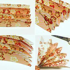 ✂️✨✂️✨✂️✨ ペーパーファンの花びらカット 丸みを持たせると可愛い花びらになります❣  #ペーパーファン#花びら#折り紙#カット#千代紙#ペーパーアイテム#プレ花嫁#結婚式準備#和婚#和婚礼#神前式#神前挙式#ウェルカムアイテム#装飾#和ウェルカムアイテム#origami#chiyogami#japan#paperfan#filly_m.marry