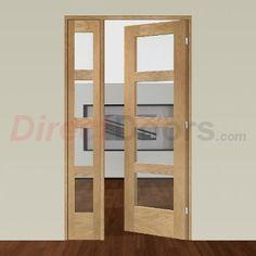 Image of Easi-Frame Oak Door Set, GOSHA4L-COEOP31L, 2005mm Height, 1127mm Wide.