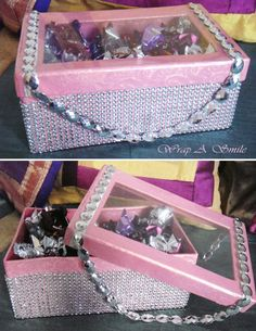 Pink Chocolate Bling Holders at Wrap A Smile - By Shreya Ahuja…