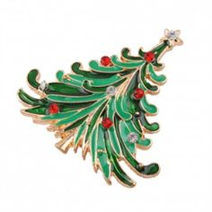 FREE Christmas Gift - Cute Christmas Tree Pin - Sent along with every order from now on to 20 Dec. 1 pin per customer limited ! http://silverbene.com/