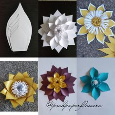 120 вподобань, 6 коментарів – Posh Paper Designs (@poshpaperdesigns) в Instagram: «With this template,  you can make  up to 5 different styles of beautiful flowers. Email me at…»