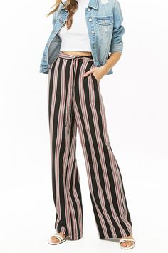 Multicolor Striped Palazzo Pants | Forever 21