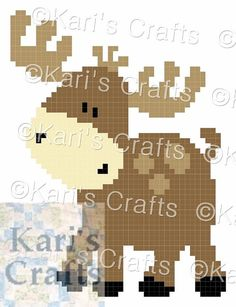 Baby Moose Corner to Corner Afghan Baby Blanket or Pillow PDF Pattern Graph + Written Instructio Granny Square Crochet Pattern, Crochet Granny, Baby Blanket Crochet, Crochet Patterns, Crochet Afghans, Crochet Blankets, Baby Blankets, Corner To Corner Crochet Pattern, Pixel Crochet