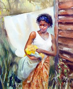 Mary Whyte - Yellow Scarf