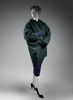 Charles James (American, born Great Britain, 1906–1978). Coat, early 1950s. The Metropolitan Museum of Art, New York. Purchase, Costume Institute Benefit Fund, Friends of The Costume Institute Gifts, and Acquisitions Fund, 2013 (2013.380) #CharlesJames