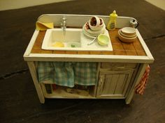 Kitchen dollhouse miniature