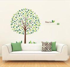 Stiker dinding yang indah, Dekorasi rumah, Latar belakang dinding kamar anak-anak, Wall sticker, Bahagia pohon DIY ZY8212