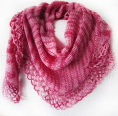 Marbled pink scarf.Hand knitted shawl..https://www.etsy.com/shop/SEVILSBAZAAR