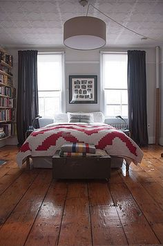 Diggin those wooden floors. Contemporary Master Bedroom - Find more amazing designs on Zillow Digs!