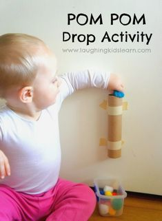 Pom pom drop activity for toddlers is great for developing f… - Diy Baby Pom pom drop activity for toddlers is great for developing f. Pom pom drop activity for toddlers is great for developing fine motor skills and an understanding of Toddler Fun, Toddler Preschool, Toddler Toys, Sensory Activities, Infant Activities, Baby Lernen, Kids Fever, Toddler Development, Before Baby