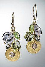 Gold & Stone Earrings by Judy Bliss