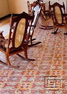 Detail of Extravagant Cement Tile Floor in Granada, Nicaragua