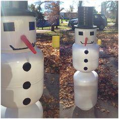 Propane tank art; snowman #propanetankart
