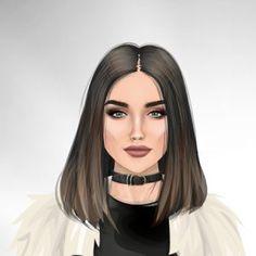 Digital Art Girl, Digital Portrait, Portrait Art, Girl Cartoon, Cartoon Art, Sarra Art, Girly Drawings, Pencil Drawings, Girly M