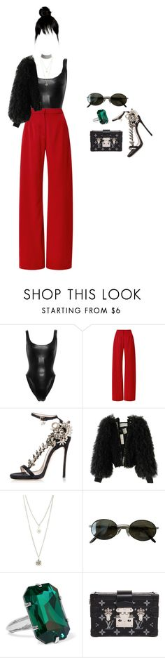 """i know that you want them too"" by andy993011 ❤ liked on Polyvore featuring Norma Kamali, Mother of Pearl, Dsquared2, Viktor & Rolf, Charlotte Russe, Ray-Ban, Balenciaga, Louis Vuitton and Marina J."