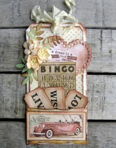 Shabby Chic Tag...with pocket & distressed papers...piabau.