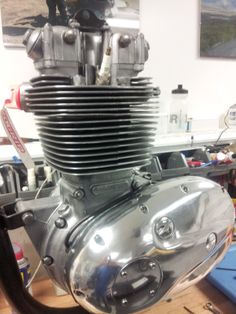 Motor on BSA Engine Stand