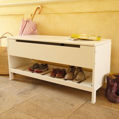 Abbeville Hallway Storage Bench - another shoe heaven